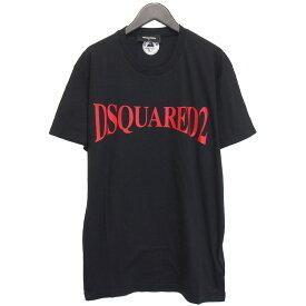 ディースクエアード DSQUARED2 Tシャツ クルーネック 半袖 ブラック GD0582-S21600-900