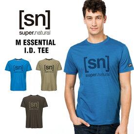 SN / スーパーナチュラル / メンズ / M ESSENTIAL I.D. TEE / ヨガ Tシャツ/ ロゴ /【SNM005240】/ (エスエヌ・スーパーナチュラル)[sn] super.natural メンズ カジュアル 半袖 [クーポン対象外]