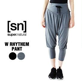 SN / スーパーナチュラル / レデイース / W RHYTHM PANT / リラックスパンツ /【SNW002860】/ (エスエヌ・スーパーナチュラル)[sn] super.natural レディース ヨガ パンツ [クーポン対象外]