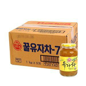 【三和】はちみつ柚子茶1kgx9本(1BOX)/ゆず茶1kg★-15個が荷物1個になります。2ケースは送料が加算されます。
