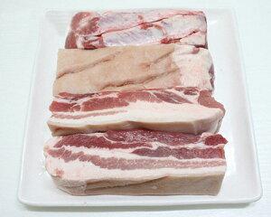 冷凍食品★皮付豚バラブロック 1kg 量り売り商品 /豚肉/韓国食品/美味しい焼肉/冷凍肉/うまい焼肉
