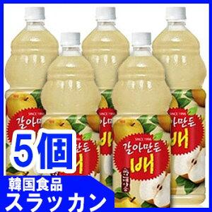 【ヘテ】おろし梨ジュースPET(1.5L)x5個