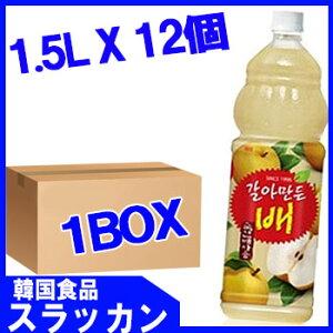 【送料無料】【ヘテ】おろし梨ジュースPET(1.5L)x12個■送料無料地域以外加算送料有■【韓国食品・韓国飲料水】