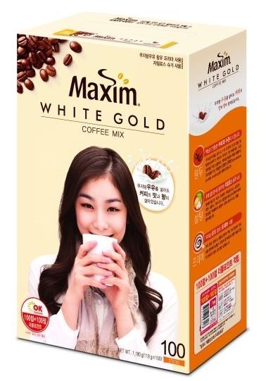 【マキシムWHITE GOLDコーヒー(11.8gX100個)】キムヨナが飲むコーヒー