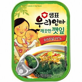 【センピョ】ゴマの葉キムチ缶詰70g(普通味)
