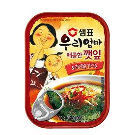 【センピョ】エゴマの葉 缶詰(辛口) 独特な風味にピリ
