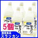 【ソウル月梅マッコリ1L(PET)(5個)】韓国伝統酒