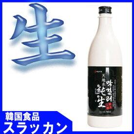 冷蔵食品★韓国食品・韓国伝統酒☆純生マッコリ750ml★