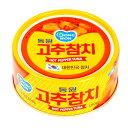 【DONGWON】唐辛子ツナ缶詰150g(2種類の中からお選びください。普通味唐辛子ツナ&辛口唐辛子ツナ)