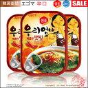 ★ネコポス便6個まで可能★【韓国食品|レトルト】えごまの葉キムチ缶詰(辛口)