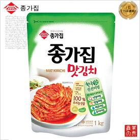 【韓国食品 キムチ 冷蔵】韓国 宗家(ジョンガ) マッキムチ(切り白菜キムチ)1kg