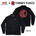 【送料無料!即納】VANS×SPITFIRE TORREY FLEECE Blackバンズ×スピットファイアー フリース 黒【あす対応_関東】ポイント5倍