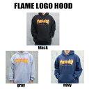 【送料無料!即納】Thrasher Flame Logo Hoodyスラッシャー フレームロゴ フード パーカー 人気トップの定番ロゴー US規格 本物【あす…