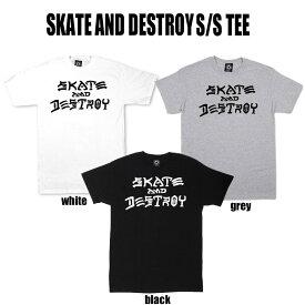【送料無料!即納】Thrasher Skate and Destroy S/S Tee スラッシャー スケートアンドデストロイ 半袖ティーシャツ U.S.規格 本物【あす楽対応_関東】クリックポスト(ポスト投函)発送 ポイント10倍