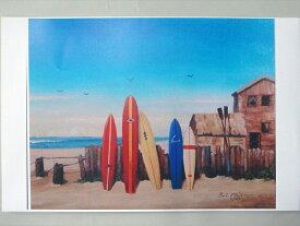 【送料無料!即納】サーフアート Bob Philips 5 boards at Sunset ポイント10倍