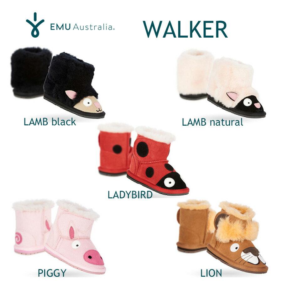 新商品【正規品】エミュー シープスキンブーツ キッズ用【送料無料!即納】EMU Sheepskin Boots WALKEREMUオリジナルBOX入り♪♪【あす楽対応_関東】