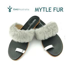 楽天スーパーSALE対象品 エミュー オーストラリア サンダル マートルファー 24cm【送料無料!即納】EMU Australia MYTLE FUR EMUオリジナルBOX入り♪♪【あす楽対応_関東】