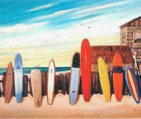 【送料無料!即納】サーフアート Bob Philips 9 Boards in Sunset Beach 27.5cmx36cm ポイント10倍