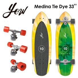 YOW SURFSKATE ヤウ サーフスケート スケボー コンプリート 2021●Medina Tie Dye 33'' ガブリエル・メディーナ タイダイ