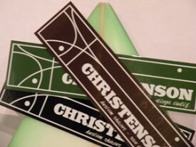 あす楽 サーフィン ステッカー CHRISTENSON クリステンソン メール便対応可●クリステンソン ステッカー 大