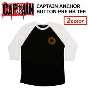 〔あす楽対応〕CAPTAINFIN,キャプテンフィン,ロンT,ベースボールT●CAPTAIN ANCHOR BUTTON PRE BB TEE