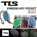 TOOLS,トゥールス,サーフィン,キーカバー,キーポケット,鍵,収納●TLS EMBOSS KEY POCKET エンボス キーポケット