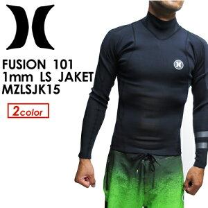 Hurley,ハーレー,サーフィン,ウェットスーツ,タッパー,長袖●FUSION101LSJACKETMZLSJK15