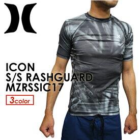 〔あす楽対応〕Hurley,ハーレー,ウェットスーツ,ラッシュガード,紫外線対策,17ss,メール便対応可●ICON S/S RASHGUARD MZRSSIC17