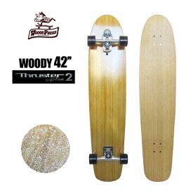 """〔あす楽対応〕【送料無料】Gravity,グラビティー,スラスターシステム,スケボー,コンプリート●WOODY PRESS SURF SKATEBOARD 42"""" スラスター2"""
