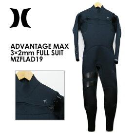 〔あす楽対応〕【送料無料】Hurley,ハーレー,ウェットスーツ,フルスーツ,19ss●ADVANTAGE MAX 3×2mm FULL SUIT MZFLAD19
