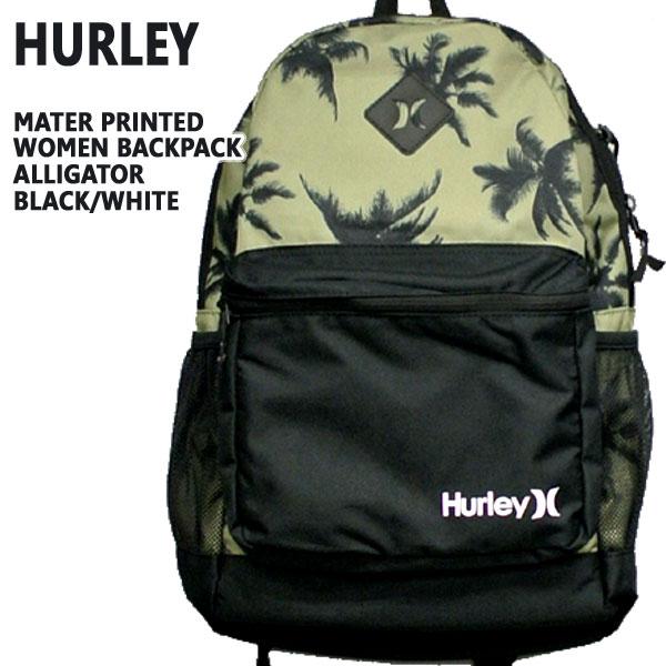 値下げしました!HURLEY/ハーレー MATER PRINTED WOMENS BACKPACK ALGT/BLK/WHT バックパック リュック