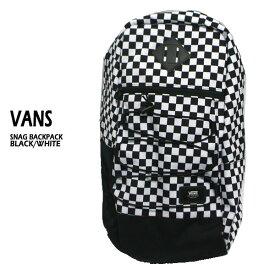 VANS/バンズ ヴァンズ SNAG BACKPACK BLACK/WHITE 鞄 リュック バックパック
