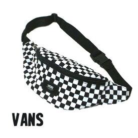 VANS/バンズ ヴァンズ MINI WARD CROSS BODY BAG ボディバッグ 白黒チェッカー ウェストバッグ 肩掛けかばん 男女兼用 VN0A45GXHUO[返品、交換及びキャンセル不可]