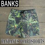 BANKS/バンクスPANDANUSBOARDSHORTSDIRTYBLACK男性用サーフパンツボードショーツサーフトランクス海パン水着