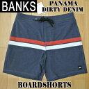 BANKS/バンクス PANAMA BOARDSHORTS DIRTY DENIM 男性用 サーフパンツ ボードショーツ サーフトランクス 海パン 水着 メンズ