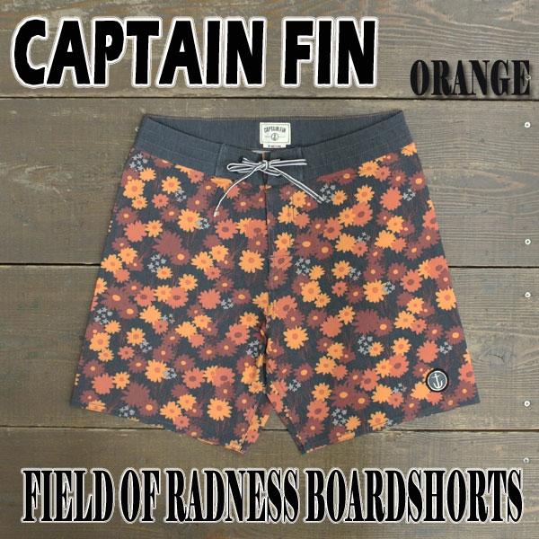 CAPTAIN FIN/キャプテンフィン FIELD OF RADNESS BOARDSHORTS ORANGE 男性用水着_海パン/海水パンツ サーフパンツ ボードショーツ