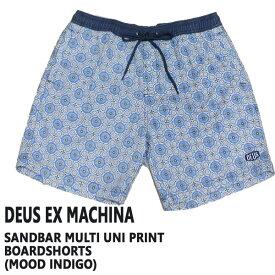 値下げしました!DEUS EX MACHINA/デウスエクスマキナ SANDBAR MULTI UNI PRINT BOARDSHORTS MOOD INDIGO 男性用 サーフパンツ ボードショーツ トランクス 水着 海パンMENS メンズ 72620