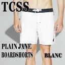 TCSS/The Critical Slide Society PLAIN JANE TRUNK BLANC 水陸両用ハイブリッドタイプ_サーフィン男性用水着_...