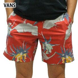 VANS/バンズ ARACHNOFLORIA BOARDSHORTS 17 RACING RED 男性用 サーフパンツ ボードショーツ サーフトランクス 海水パンツ 海パン メンズ 水着