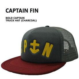 CAPTAINFIN/キャプテンフィンBOLDCAPTAINTRUCKERCHARCOALCAP/キャップHAT/ハット帽子日よけ