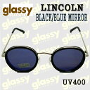 GLASSY SUNHATERS/グラッシーサンヘイターズ サングラス LINCOLN BLACK/BLUE MIRROR サングラス EYEWEAR/アイウェア