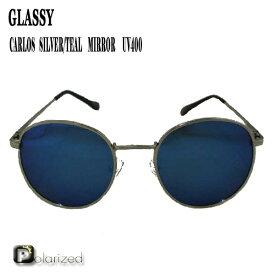 GLASSY SUNHATERS/グラッシーサンヘイターズ サングラス CARLOS POLARIZED SILVER/TEAL MIRROR サングラス EYEWEAR/アイウェア 偏光レンズ