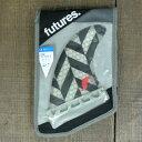 FUTURES FIN/フューチャーズ フィン RTM HEX QF4 QUAD CLEAR/BLACK QAUD FIN SET/クワッドフィン4本セット