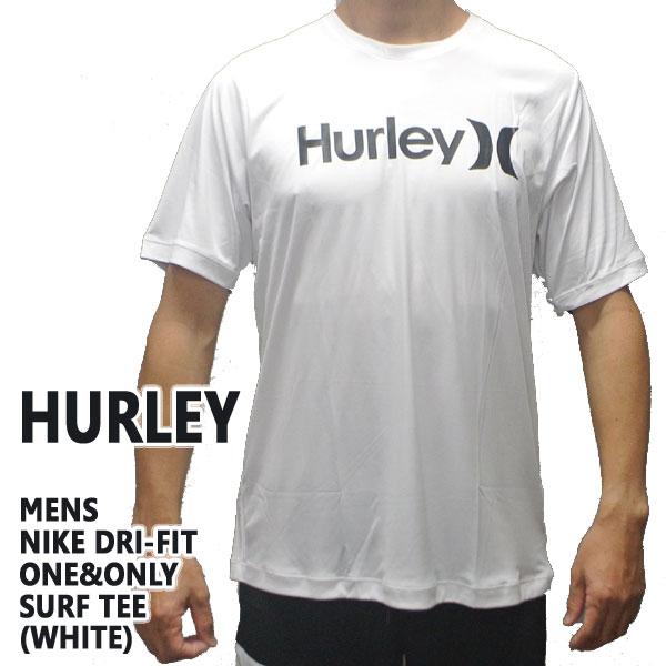 値下げしました!HURLEY/ハーレー NIKE DRI-FIT ONE & ONLY 半袖サーフTシャツ ラッシュガード WHITE 10A S/S サーフィン用 男性用水着 UVカット_02P01Oct16