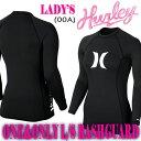 HURLEY/ハーレー レディース長袖ラッシュガード WOMENS ONE & ONLY L/S RASHGUARD 00A BLACK 定番モデル サーフィン...