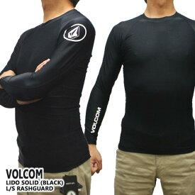 値下げしました!VOLCOM/ボルコム メンズ長袖ラッシュガード LIDO SOLID L/S RASHGUARD BLACK UPF50+ 男性用水着 UVカット 311800