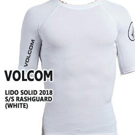 値下げしました!VOLCOM/ボルコム メンズ半袖ラッシュガード LIDO SOLID S/S WHITE RASHGUARD DSRUPF50+ 男性用水着 UVカット 111800
