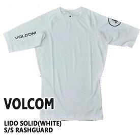 値下げしました!VOLCOM/ボルコム メンズ半袖ラッシュガード LIDO SOLID S/S WHITE RASHGUARD DSRUPF50+ 男性用水着 UVカット 111700