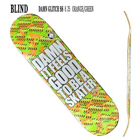 値下げしました!BLIND/ブラインド スケートボード デッキ DAMN GLITCH ORANGE/GREEN 8.25 DECK スケボーSK8_02P01Oct16