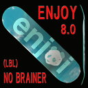 ENJOI/エンジョイ NO BRAINER HYB LBL 8.0 DECK SK8 スケートボード/スケボーデッキ